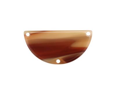 Zola Elements Brown Sugar Acetate Half Circle Y-Connector 30x15mm