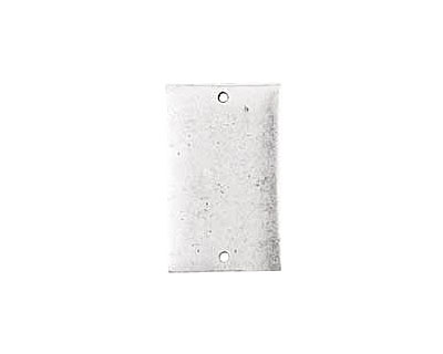 Nunn Design Antique Silver (plated) Flat Large Rectangle Tag Link 30x18mm