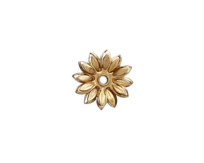Brass Layered Daisy 14mm