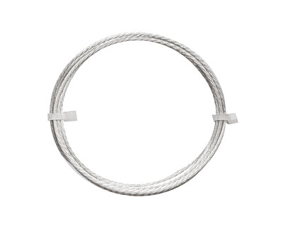 German Style Wire Silver (plated) Twist Pattern Round 16 gauge, 1 meter