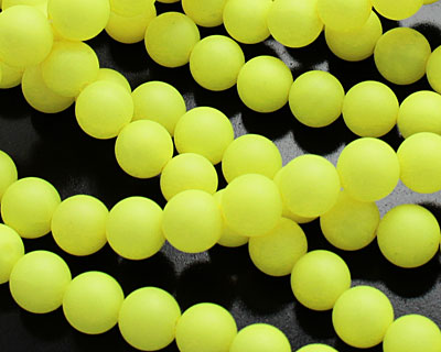 Neon Yellow Shell Pearl Round 6mm