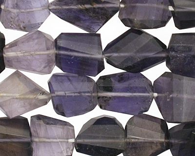 Iolite Faceted Nugget 10-17x8-13mm