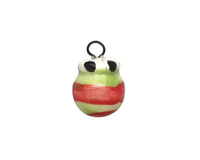 Jangles Ceramic Red Ornament Charm 14x19mm