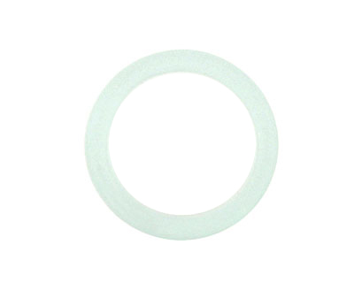 Trinket Foundry Seafoam Found Glass Bottle Ring 27-29x5-7mm