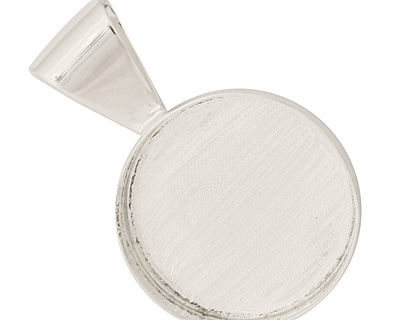 Silver (plated) Circle Bezel 26mm