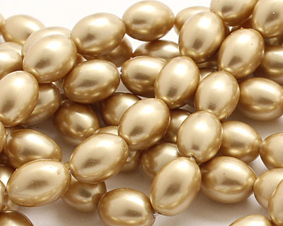 Hamilton Gold Shell Pearl Rice 11x8mm