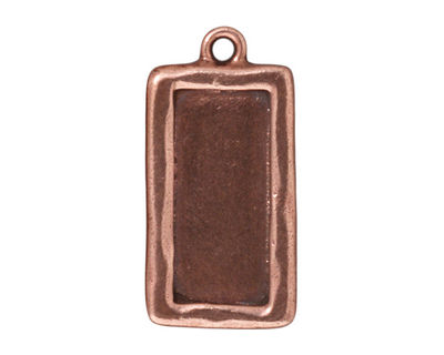 TierraCast Antique Copper (plated) Rectangle Frame Drop 15x31mm
