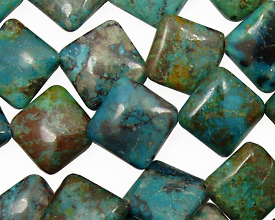 Chrysocolla Diamond 16mm