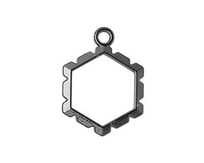 Artistic Wire Hematite Hexagon Wrapper 18x24mm