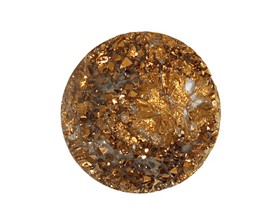 Druzy (metallic gold) Round Cabochon 25mm