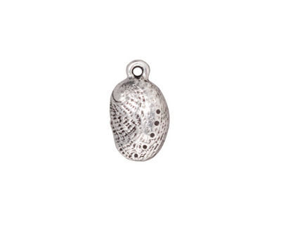 TierraCast Antique Silver (plated) Abalone Charm 9x16mm