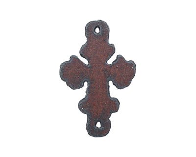 The Lipstick Ranch Rusted Iron Small Cross Link 40x26mm