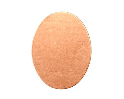 Copper Oval Blank 23x29mm