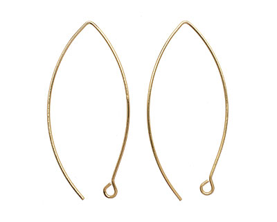 Gold (plated) Horse Eye Earwire 44x17mm