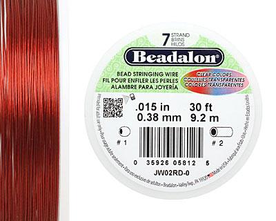 Beadalon Red .015