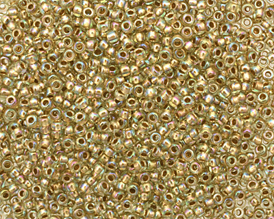 TOHO Rainbow Light Jonquil (with Gold Lining) Round 11/0 Seed Bead
