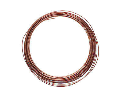 Soft Flex Non-Tarnish Antique Copper Half Round Craft Wire 18 gauge, 7 yards