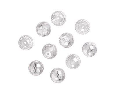 Crystal Clear Faceted Round 8mm