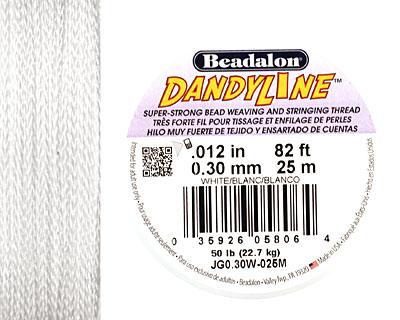 DandyLine White .3mm Thread, 25 meters