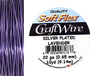Soft Flex Silver Plated Lavender Craft Wire 22 gauge, 10 yards
