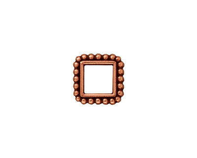 TierraCast Antique Copper (plated) 6mm Square Bead Frame 12mm