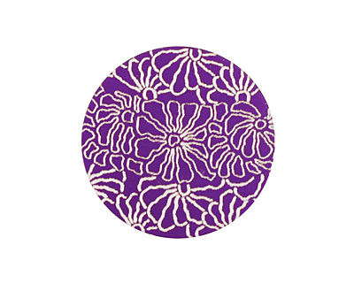 Lillypilly Purple Weathered Daisy Anodized Aluminum Disc 25mm, 24 gauge