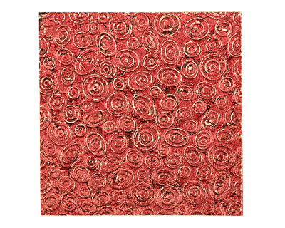 Lillypilly Red Wine Groovy Circles Embossed Patina Copper Sheet 3
