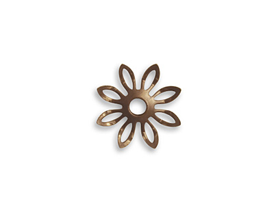 Vintaj Natural Brass Trillium Petals Fastenable 14mm