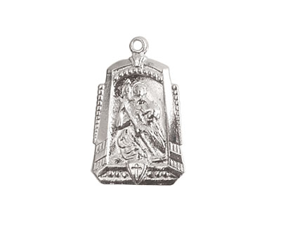 Nunn Design Sterling Silver (plated) Protector Medallion 15x25mm