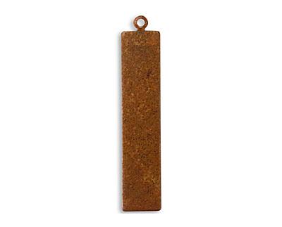 Vintaj Artisan Copper Rectangle Tag Altered Blank 8x41mm
