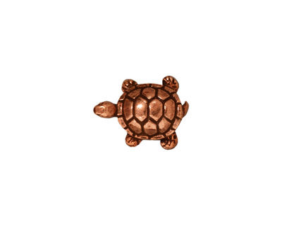 TierraCast Antique Copper (plated) Turtle Bead 15x12mm