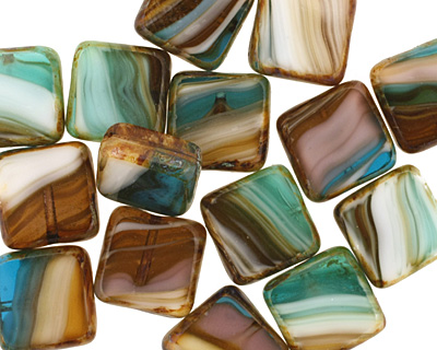 Czech Glass Elements Square 10mm