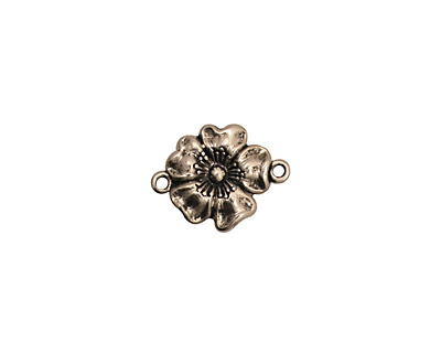 Stampt Antique Pewter (plated) Buttercup Connector 14x11mm