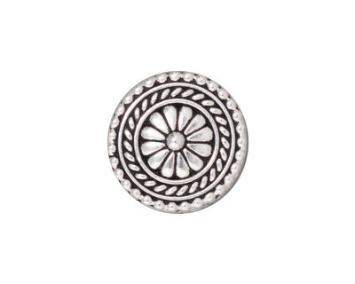 TierraCast Antique Silver (plated) Bali Button 18mm