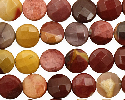 Mookaite Faceted Coin 10mm