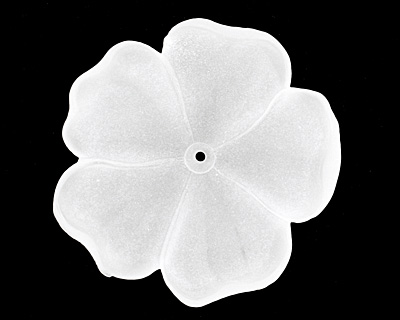 Matte Crystal Lucite 5 Petal Flower 10x36mm