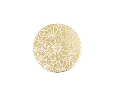 Lillypilly Gold Weathered Daisy Anodized Aluminum Disc 19mm, 22 gauge