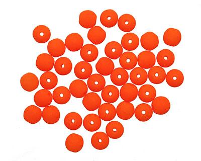 Czech Glass Bright Neon Orange Round 4mm