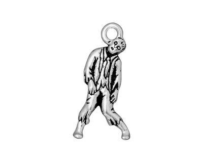 TierraCast Antique Silver (plated) Zombie Charm 13x26mm