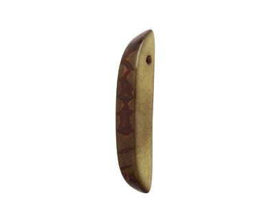 Tagua Nut Olive Splinter (top-drilled) 6-8x38-48mm
