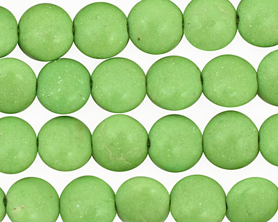 Apple Green Magnesite Puff Coin 10mm