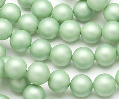 Mint (matte) Shell Pearl Round 10mm