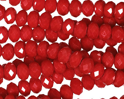Scarlet Crystal Faceted Rondelle 6mm