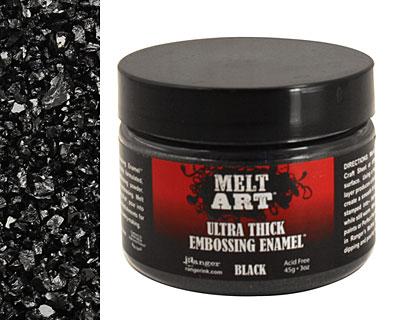 Melt Art Black Ultra Thick Embossing Enamel 3 oz.