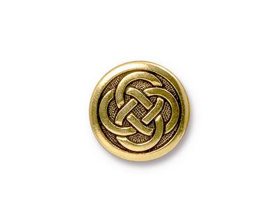 TierraCast Antique Gold (plated) Celtic Knot Button 16mm