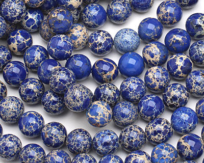 Denim Blue Impression Jasper Round 12mm