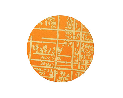 Lillypilly Orange Bamboo Anodized Aluminum Disc 25mm, 24 gauge