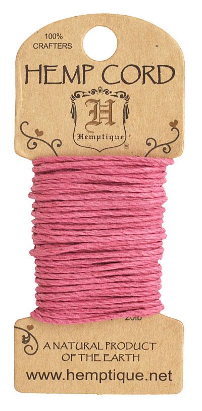 Bright Pink Hemp Twine 20 lb, 20 ft