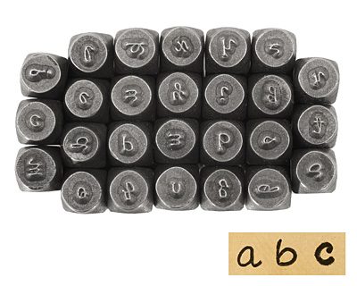 Pinafore Lowercase Letters Metal Stamp Set 2.5mm