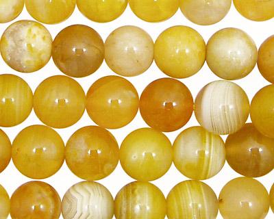Yellow Botswana Agate Round 10mm